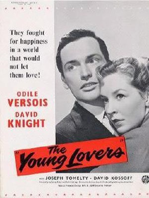 The Young Lovers (1954 film) - British release poster