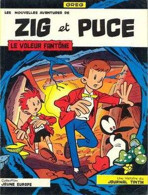 Zig et Puce - Cover of Le voleur fantôme (1965) by Greg
