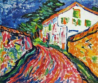 Erich Heckel - Weisses Haus in Dangast, oil painting by Erich Heckel, 1908.