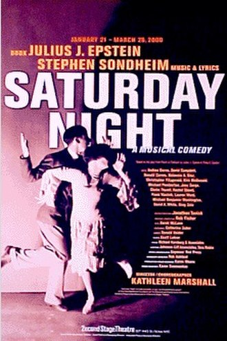 Saturday Night (musical) - Poster for the Off-Broadway premiere