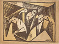 Albert Gleizes, 1915, Retour, published in Le Mot, n. 20, 1 July 1915.jpg