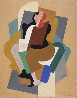Woman with Black Glove - Image: Albert Gleizes, 1920, Figure, gouache on canvas, 91.4 x 76.2 cm, Los Angeles County Museum of Art