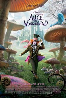 Alice in Wonderland 2010 USA Tim Burton Mia Wasikowska Johnny Depp Helena Bonham Carter Anne Hathaway Adventure, Family, Fantasy