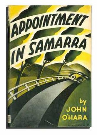 John O'Hara - First edition cover of Appointment in Samarra