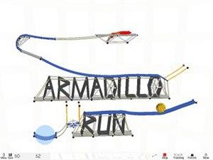 Armadillo Run - Cover art and title screen for Armadillo Run