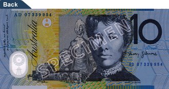 Australian ten-dollar note - 1993-2017 polymer note—reverse