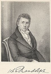 Autographed portrait of John Randolph