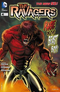 Beast Boy On The Cover Of Ravagers 4 His First Appearance As Part New 52 Showing Red