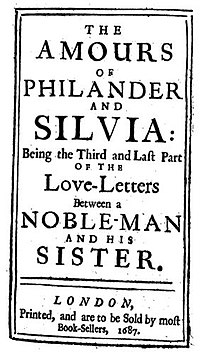Titlepage of The Amours of Philander and Silvia (1687)
