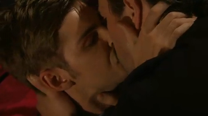 Brendan Brady - Ste kisses Brendan, the start of the gay plot (2010).