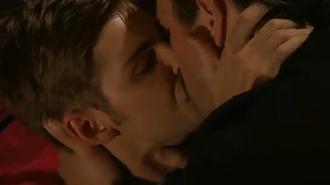 Brendan Brady - Ste kisses Brendan, the start of the gay plot (2010).