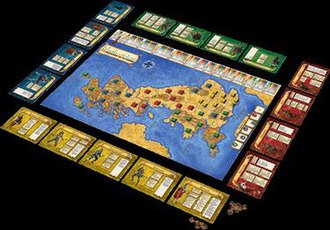 Britannia (board game) - The game laid out