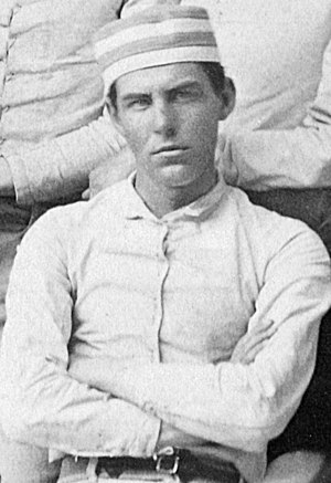 Charles H. Campbell - Campell in football attire, 1879