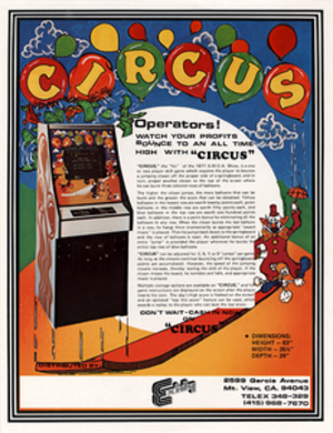 Circus (video game) - Arcade flyer by Exidy