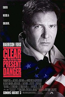 <i>Clear and Present Danger</i> (film) 1994 film by Phillip Noyce