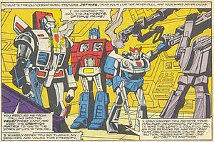 Jetfire - Jetfire receives the Autobrand
