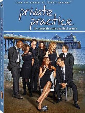 Private Practice (season 6) - Image: DVD cover, Private Practice season 6