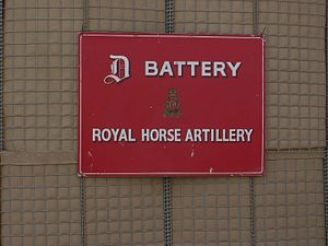 D Battery Royal Horse Artillery - Image: D Battery Royal Horse Artillery Basrah, Iraq, April 2008