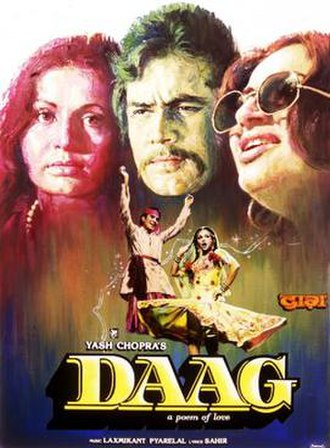 Daag (1973 film) - Theatrical Poster