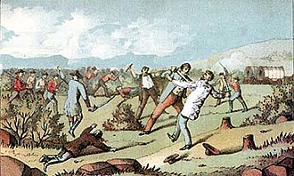 "1838 Mormon War - ""Charge of the Danites"" in the 1838 Mormon War also known as the Missouri Mormon War"