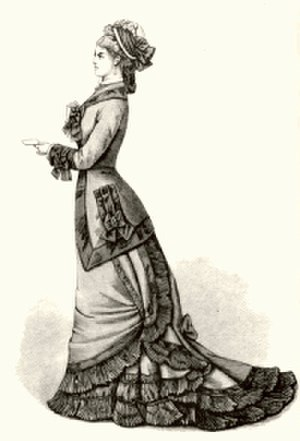 1870s in Western fashion - Dress of the later 1870s