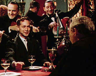 Franchot Tone - Tone with Charles Laughton in The Man on the Eiffel Tower (1949)