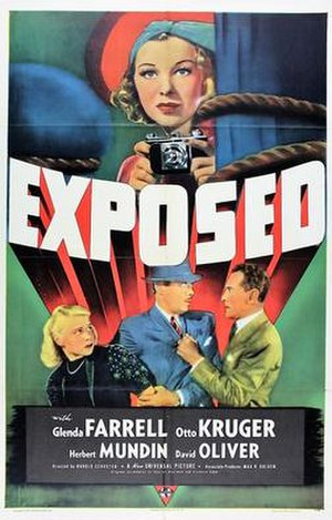 Exposed (1938 film) - Movie poster