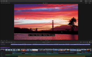 Screenshot of Final Cut Pro X, showing the Viewer and the Timeline