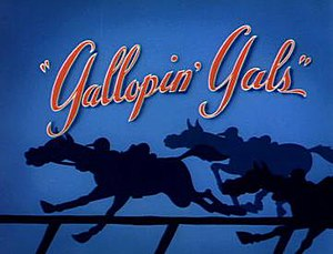 Gallopin' Gals - Title card