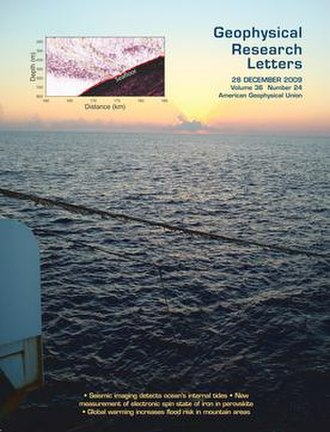 Geophysical Research Letters - Image: Geophysical Research Letters