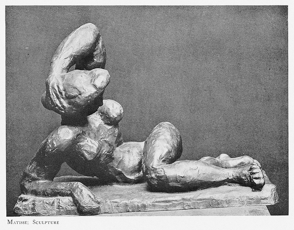 Henri Matisse, 1906-07, Nu couché, I (Reclining Nude, I), exhibited at Montross Gallery, New York, 1915