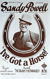 <i>Ive Got a Horse</i> 1938 film by Herbert Smith