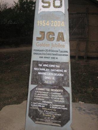 Zou people - JCA jubilee monument at Daizang village