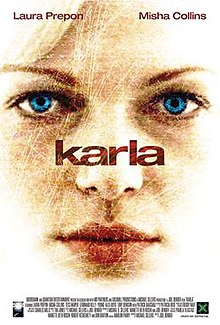 Film poster. Shows a close-up, color pencil sketch of Karla's (Prepon's) face