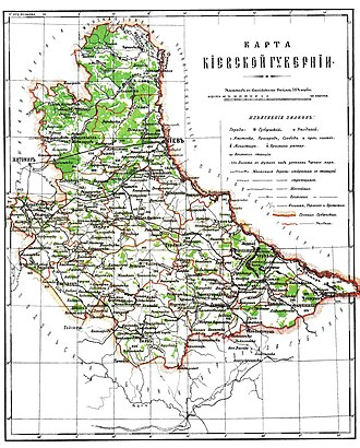 Kiev Governorate - Image: Kiev Governorate Brockhaus