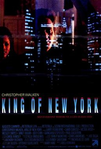 King of New York - Theatrical release poster