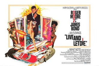 Live and Let Die (film) - Image: Live and Let Die UK cinema poster