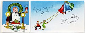 George McManus - Card by George McManus featuring his Bringing Up Father characters