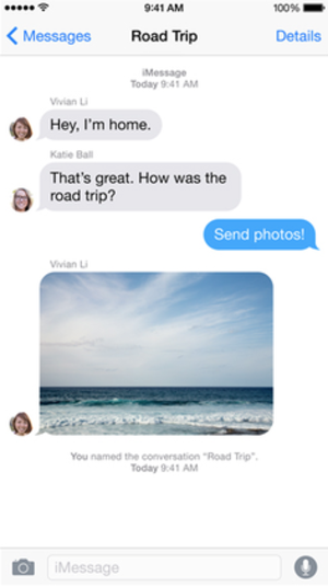 IMessage - Image: Messages i OS 7 Screenshot