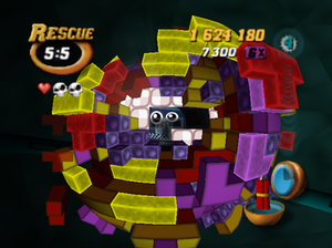 Tetrisphere - In Rescue Mode, the player must destroy layers in order to reach the sphere's core and free a trapped robot.