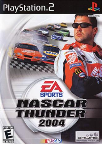 NASCAR Thunder 2004 - Cover art featuring Tony Stewart (PlayStation 2)