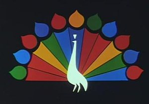 Logo of NBC - Laramie peacock, used from 1962 to 1976