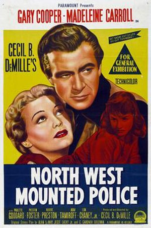 North West Mounted Police (film) - Theatrical release poster
