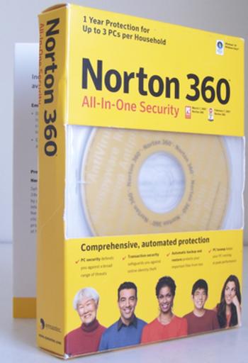 Norton 360 version 1.0 box art