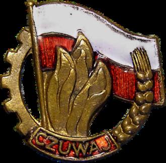 Polish Scouting and Guiding Association - Emblem of the Organizacja Harcerska Związku Młodzieży Polskiej 1950-1956