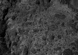 Holden (Martian crater) - Breccia in the crater Holden, taken by HiRISE