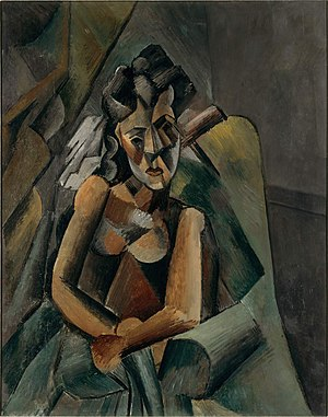 Neue Nationalgalerie - Pablo Picasso, 1909, Femme assise (Sitzende Frau), oil on canvas, 100 x 80 cm