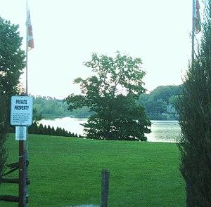 Preston Lake, Ontario - Preston Lake (South Shore), with view to North Shore community