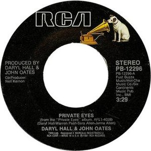 Private Eyes (song) - Image: Private Eyes side label US vinyl
