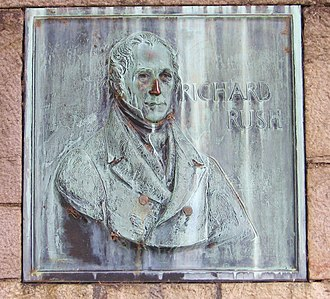 Rush–Bagot Treaty - Plaque to Richard Rush, U.S. diplomat, at Old Fort Niagara